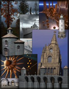 Bryce Download - Bryce 5.5 Content Kit: Volume 1