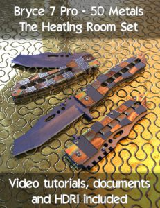 Bryce Download - Bryce 7 Pro - 50 Metals - The Heating Room Set