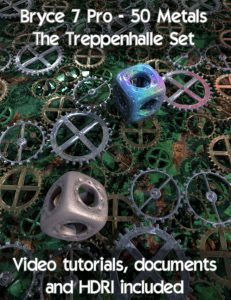 Bryce Download - Bryce 7 Pro 50 Metals The Treppenhalle Set