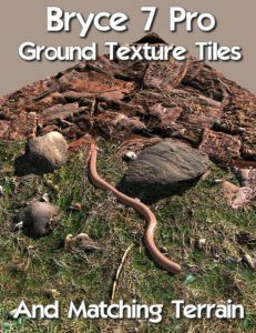 Bryce Download - Bryce 7 Pro Ground Texture Tiles and Matching Terrain