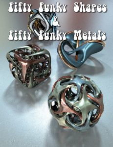 Bryce Download - Bryce 7.1 Pro - Fifty Funky Shapes and Fifty Funky Metals