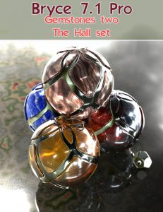 Bryce Download - Bryce 7.1 Pro - Gemstones Two The Hall Set