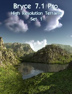 Bryce Download - Bryce 7.1 Pro - High Resolution Terrains - Set 1