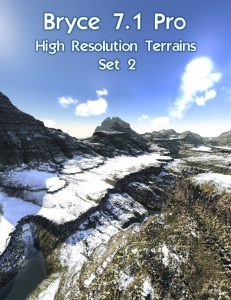 Bryce Download - Bryce 7.1 Pro - High Resolution Terrains - Set 2