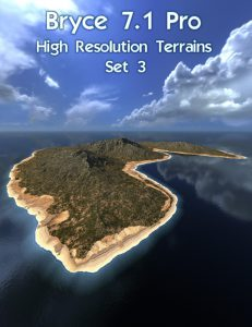 Bryce Download - Bryce 7.1 Pro - High Resolution Terrains - Set 3