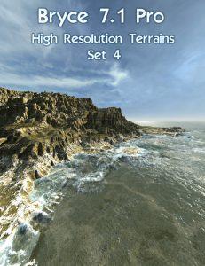 Bryce Download - Bryce 7.1 Pro - High Resolution Terrains - Set 4