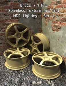 Bryce Download - Bryce 7.1 Pro - Seamless Texture Mix and HDR Lighting - Set 1