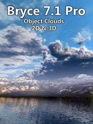 Bryce 7.1 Pro - Object Clouds 2D & 3D