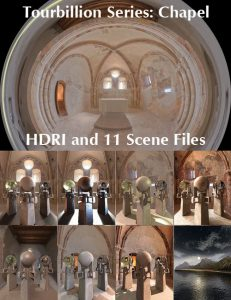 Bryce Download - Tourbillion Chapel HDRI and Scene Files