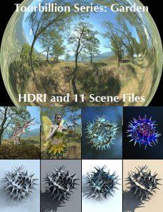 Bryce Download - Tourbillion Garden HDRI and Scene Files