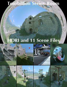 Bryce Download - Tourbillion Room HDRI and Scene Files