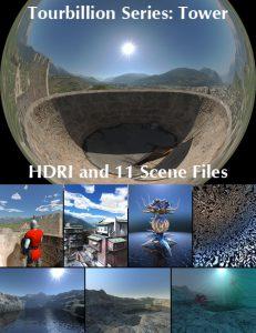 Bryce Download - Tourbillion Tower HDRI and Scene Files